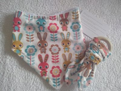 Rabbit Bib & Maple Teether